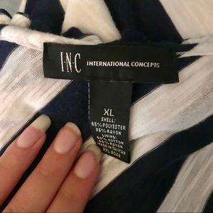 INC International Concepts Dresses - BLUE & WHITE STRIPPED DRESS 💋